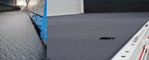 KCN Antirutschböden in zwei Aufliegern, ein Bild zeigt Nahaufnahme