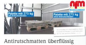 """Presseartikel KCN in der nfm Nutzfahrzeuge Management 11/2020: """"Antirutschmatten überflüssig"""
