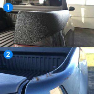 Vergleich Ladeflächenbeschichtung mit und ohne Kantenschutz