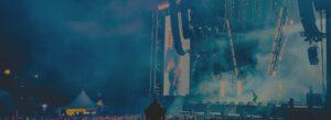 Open-Air-Festival Bühne Lautsprecher