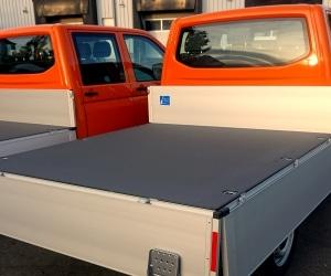 abriebfeste Nutzfahrzeug-Beschichtung bei einem Pritschenwagen